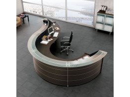 Luna Curved Reception Desks