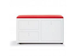 Cbox double pedestal with coloured cushion