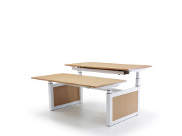 Oblique Adapt Height Adjustable Double Desk