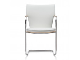 Sereno Cantilever Chair in White Leather