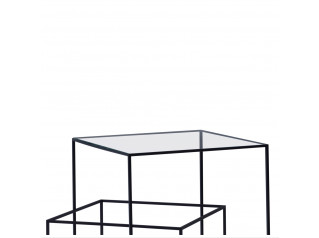 Thin Black Low Table