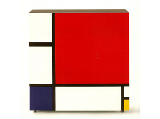 Homage To Mondrian Storage Cabinets