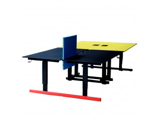 Grid Double Bench Desks