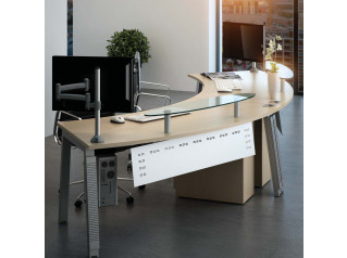 Linnea Radius Reception Desk