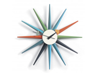 Sunburst Clock, Multicoloured