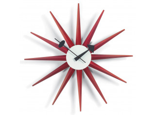 Sunburst Clocks, Red