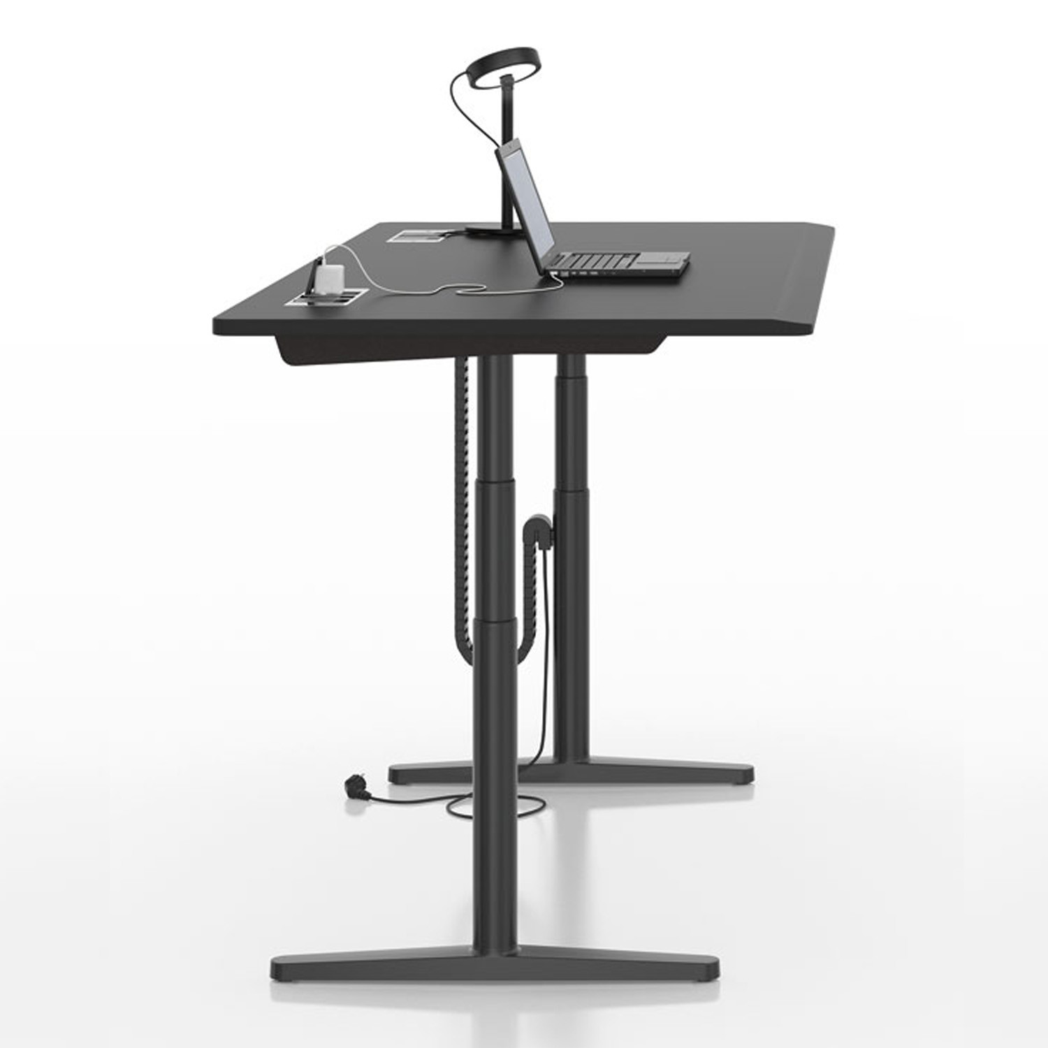 Vitra Tyde Table   Height Adjustable Sit-Stand Table   Apres Furniture - Tyde Sit-Stand Adjustable Desk; Vitra ...