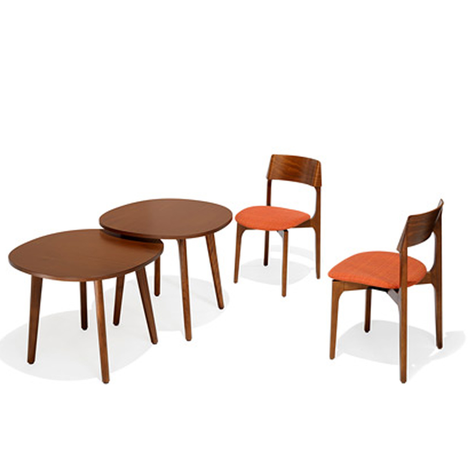 1010 Bina Upholstered Cafe Chairs
