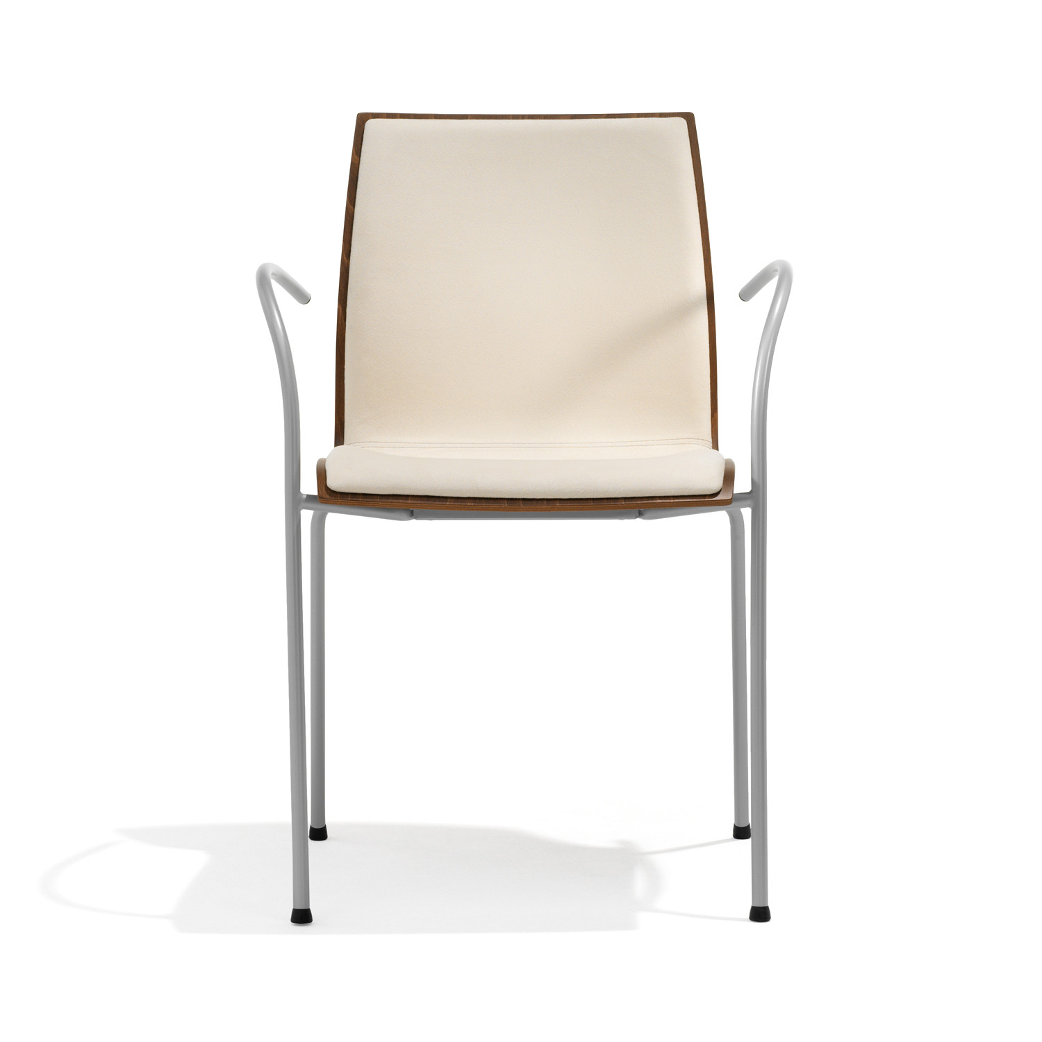 1100 Trio 4-Legged Armchair with Upholstered Seat Shell