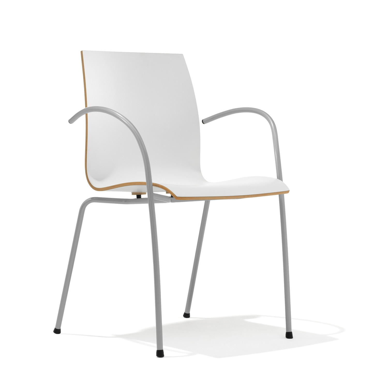1100 Trio 4-Legged Cafe Chair with Armrests