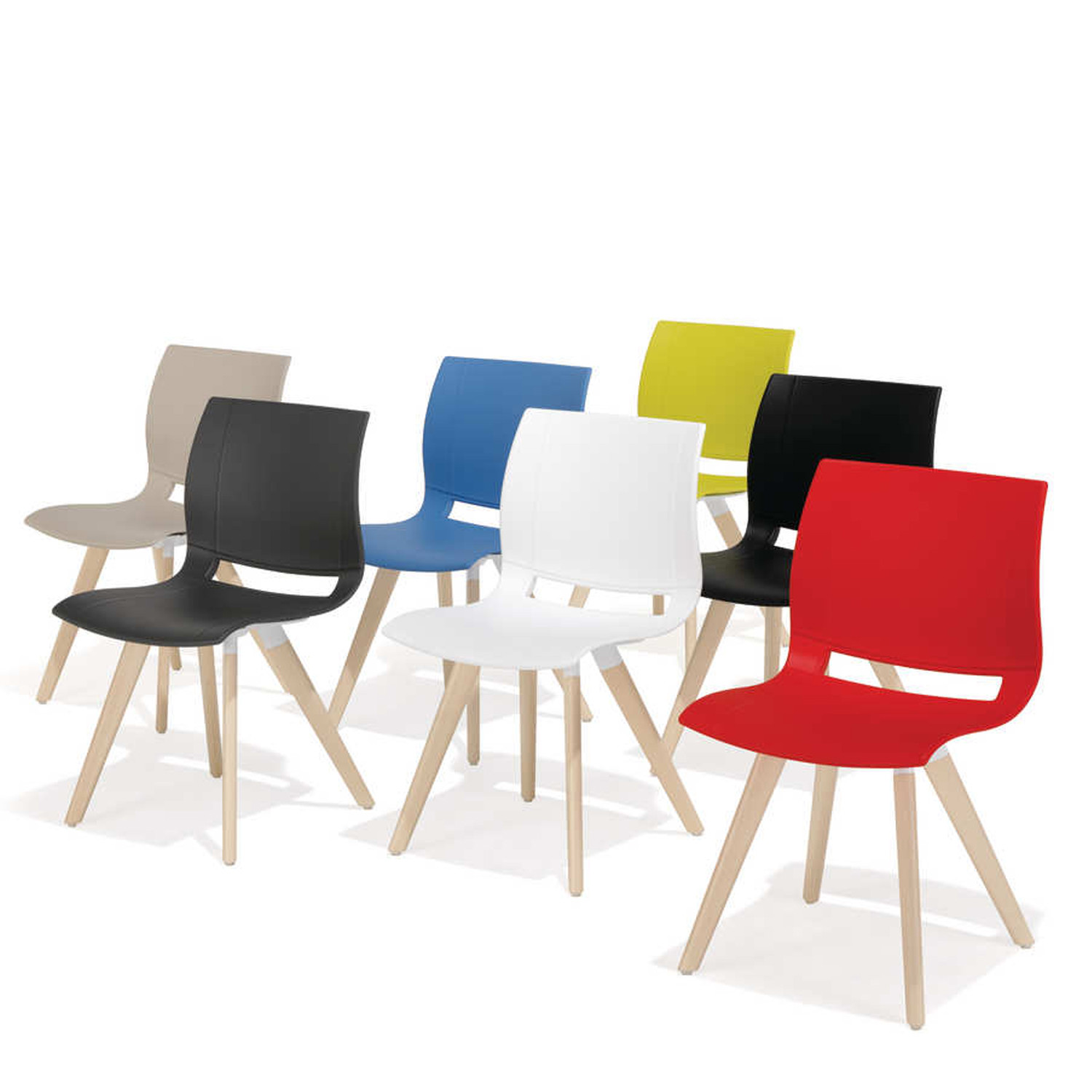 2080 Uni_Verso Chairs are available in a wide range of colours