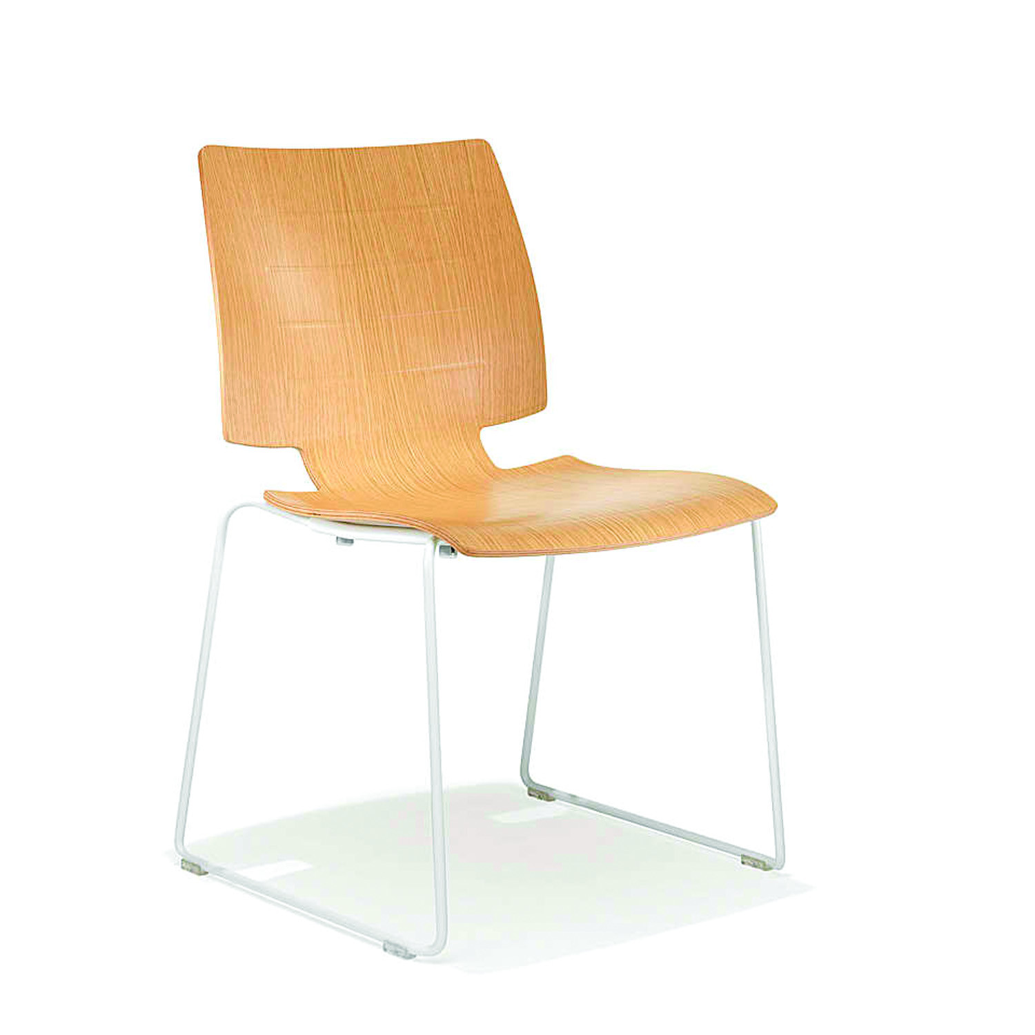 2100 Uni_Verso Sled-Base Wooden Chair