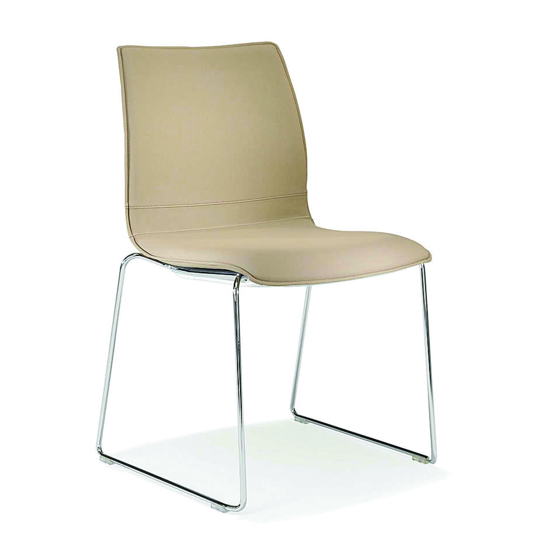 2100 Uni_Verso Sled-Base Upholstered Chair