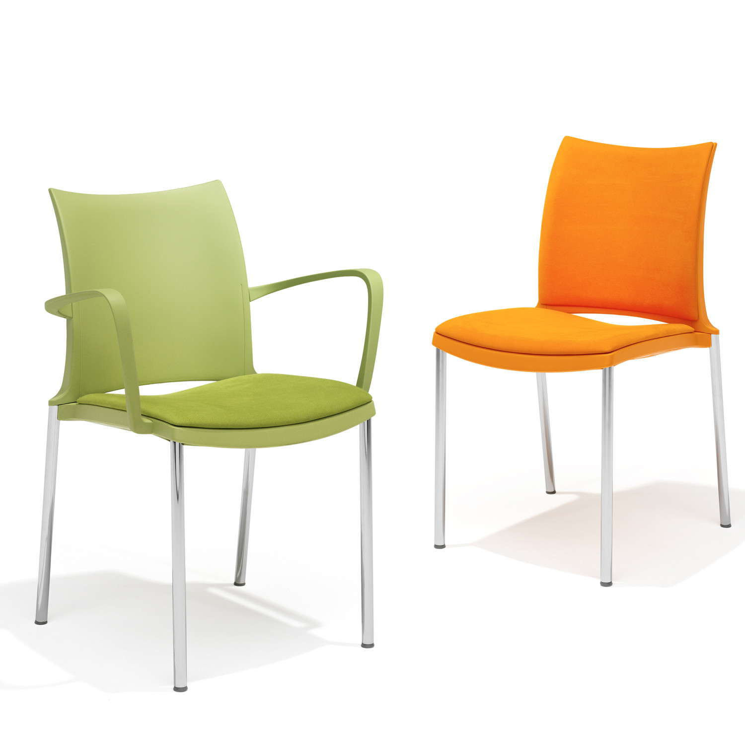 2200 Hola Chairs are available with or without armrests