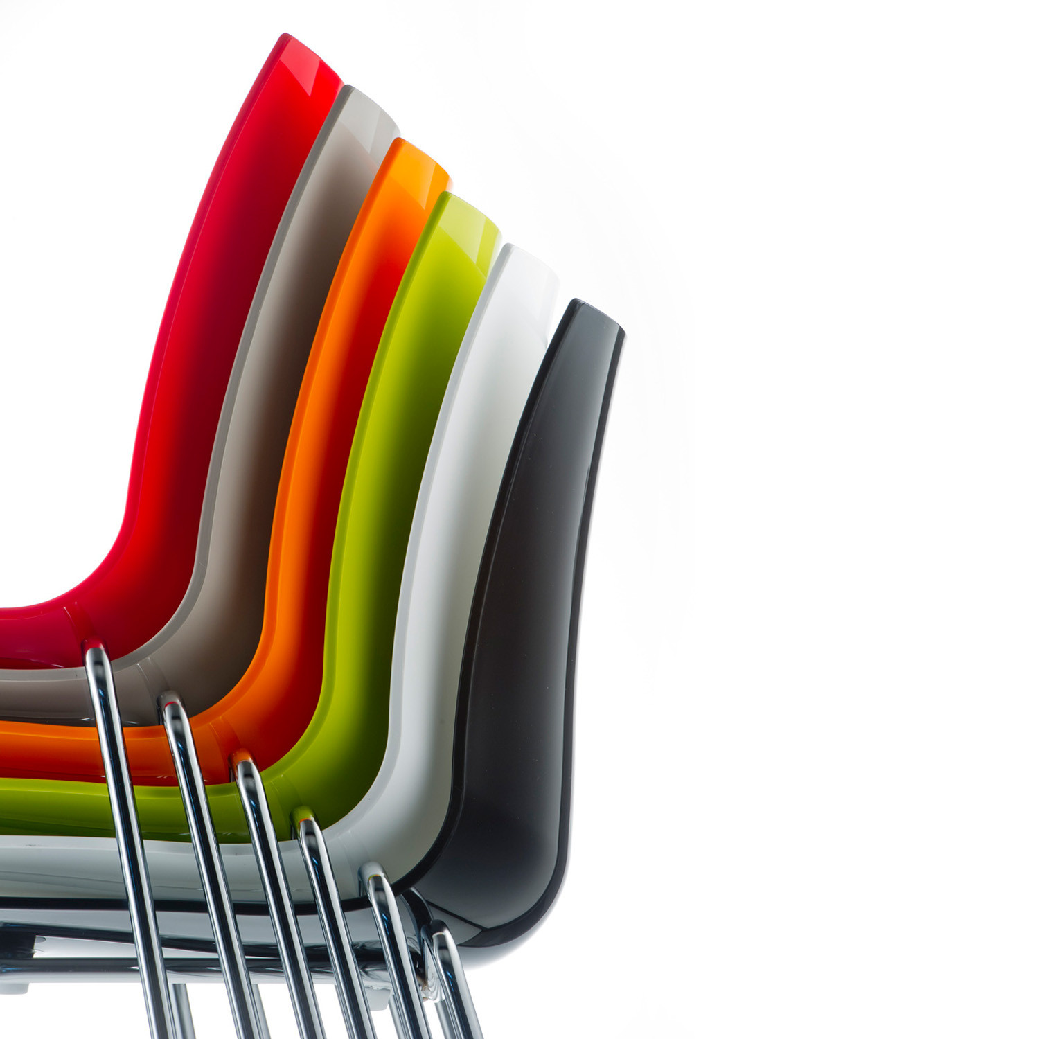 3D-Colour Stacking Cafe Chairs