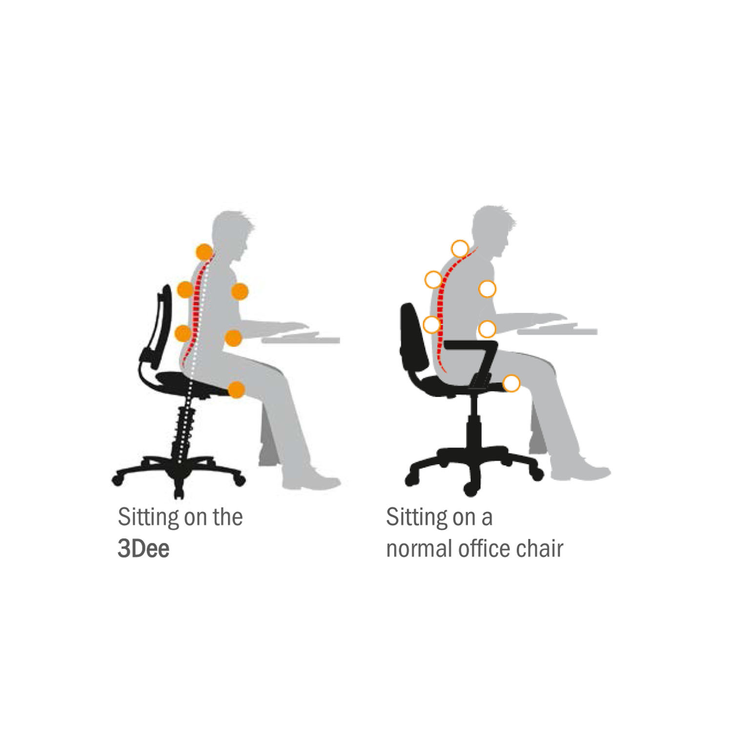 3Dee Active fice Chair Ergonomic Task Chairs