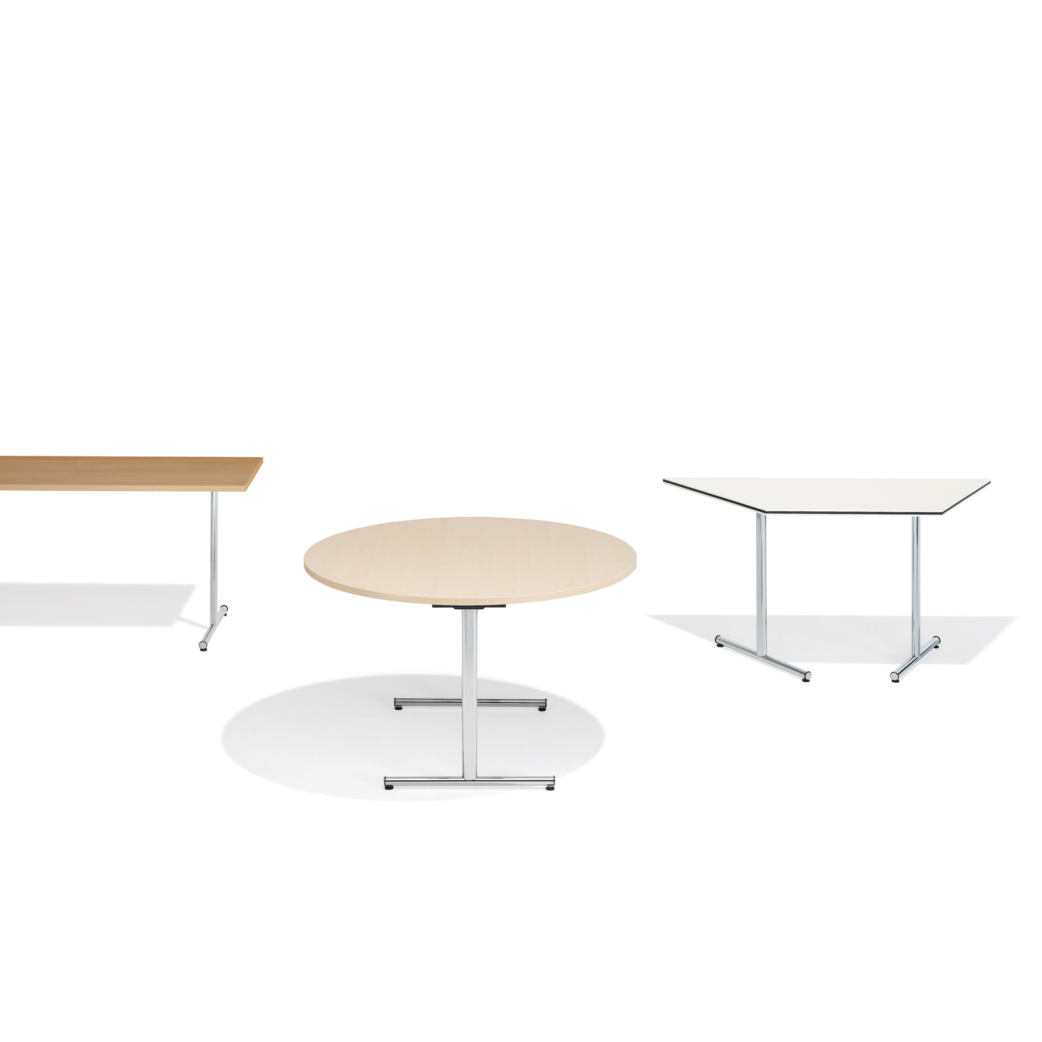 4000 Delgado Tables are available in a variety of top shapes