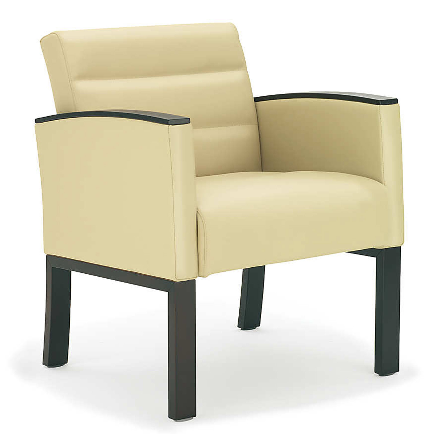 5050 Vega 4-Legged Armchair with upholstered sides and beech armpads