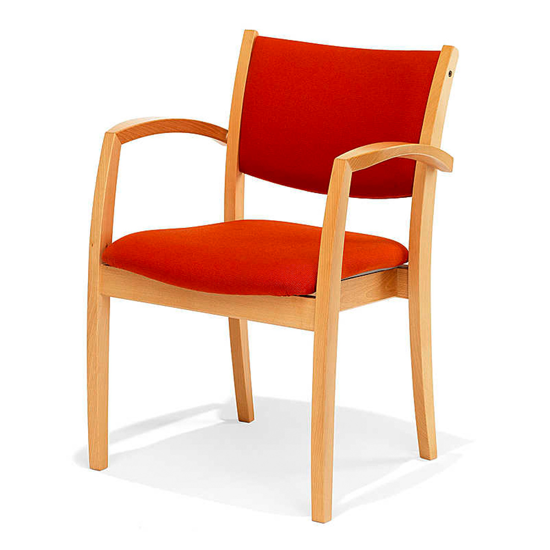 5100 Vino Wooden Frame Upholstered Armchair