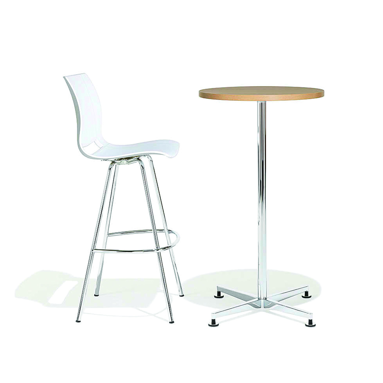 6000 San_Siro Bar Height Table with glides