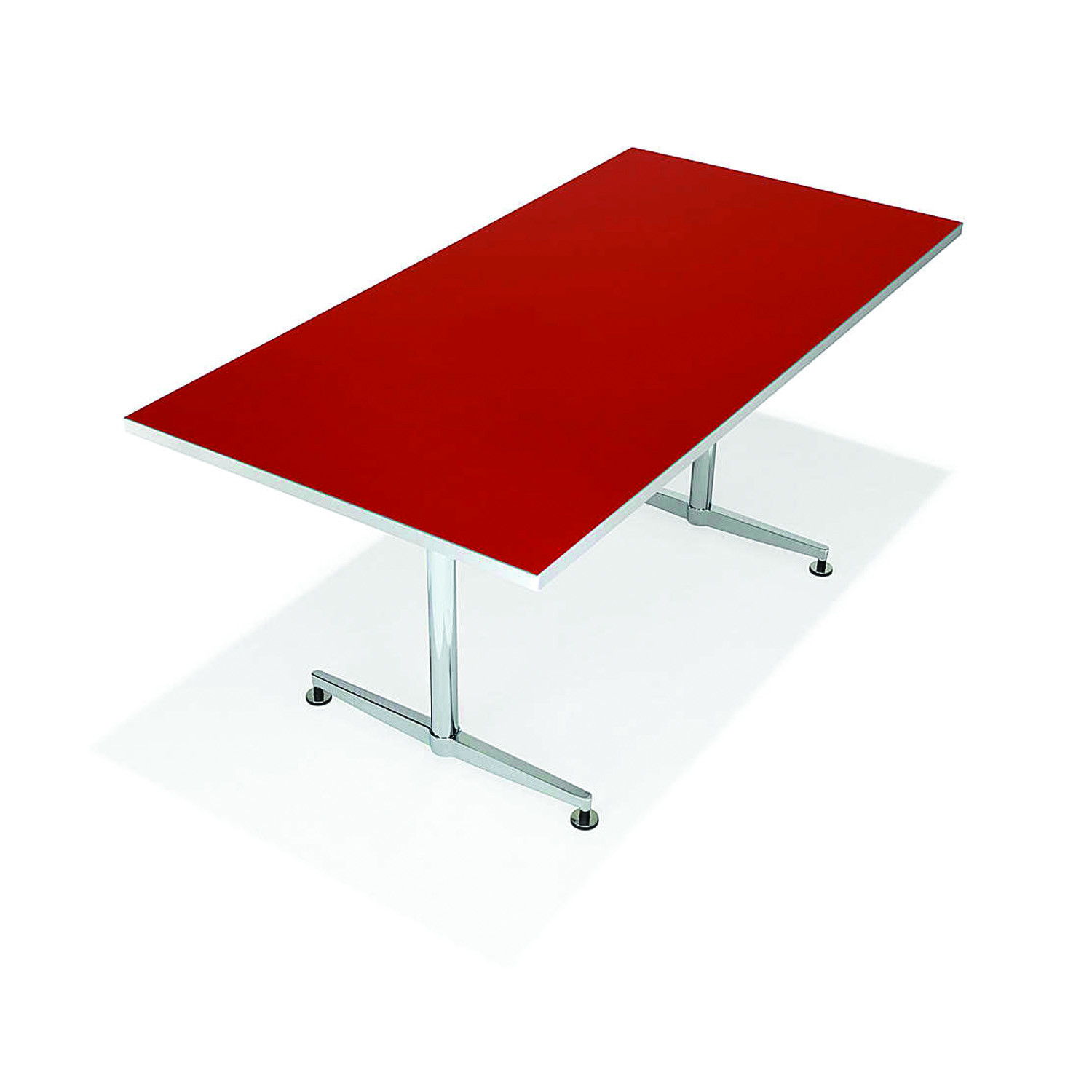 6000 San_Siro Rectangular Meeting Table in red