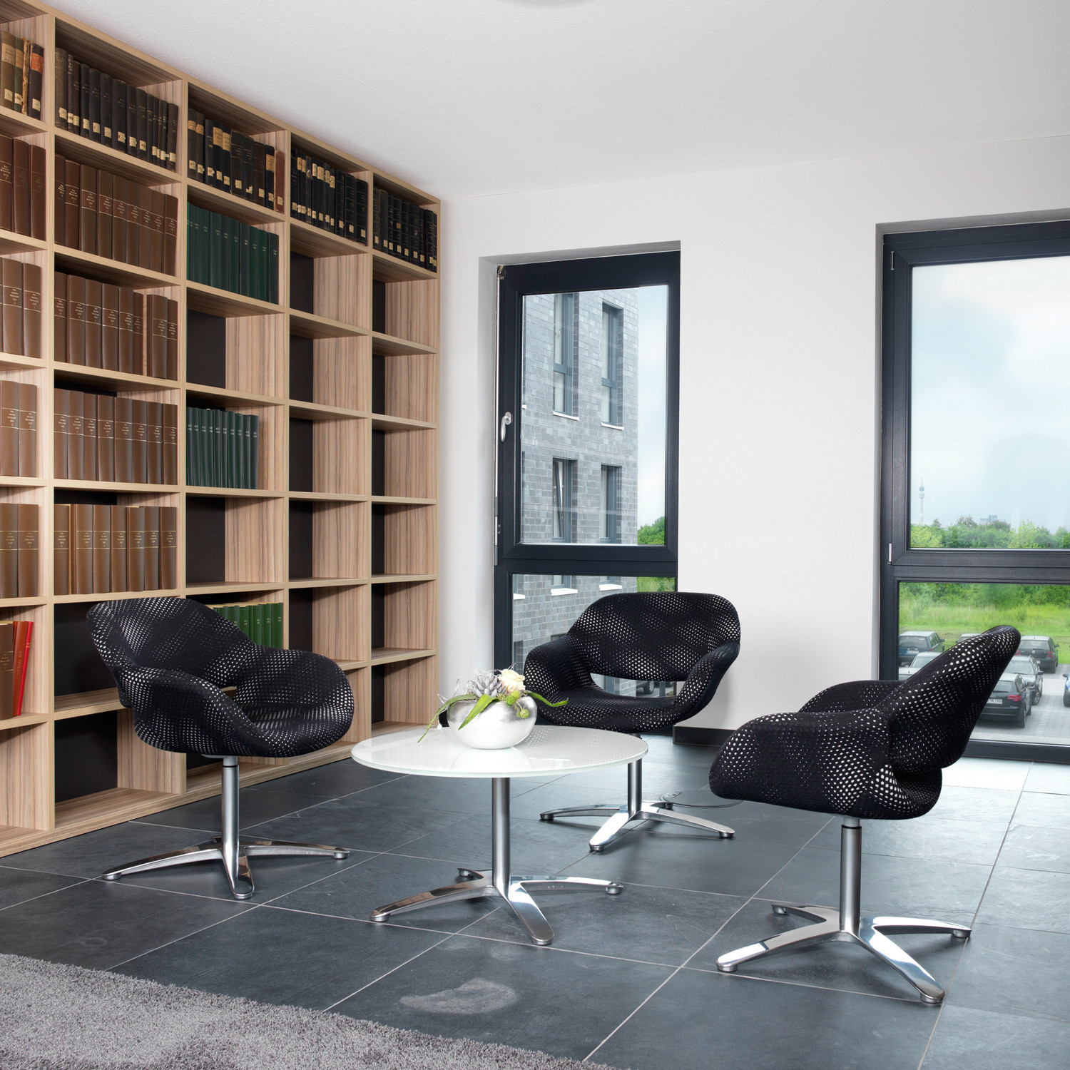 8200 Volpe Reception Armchairs and Volpe Coffee Table