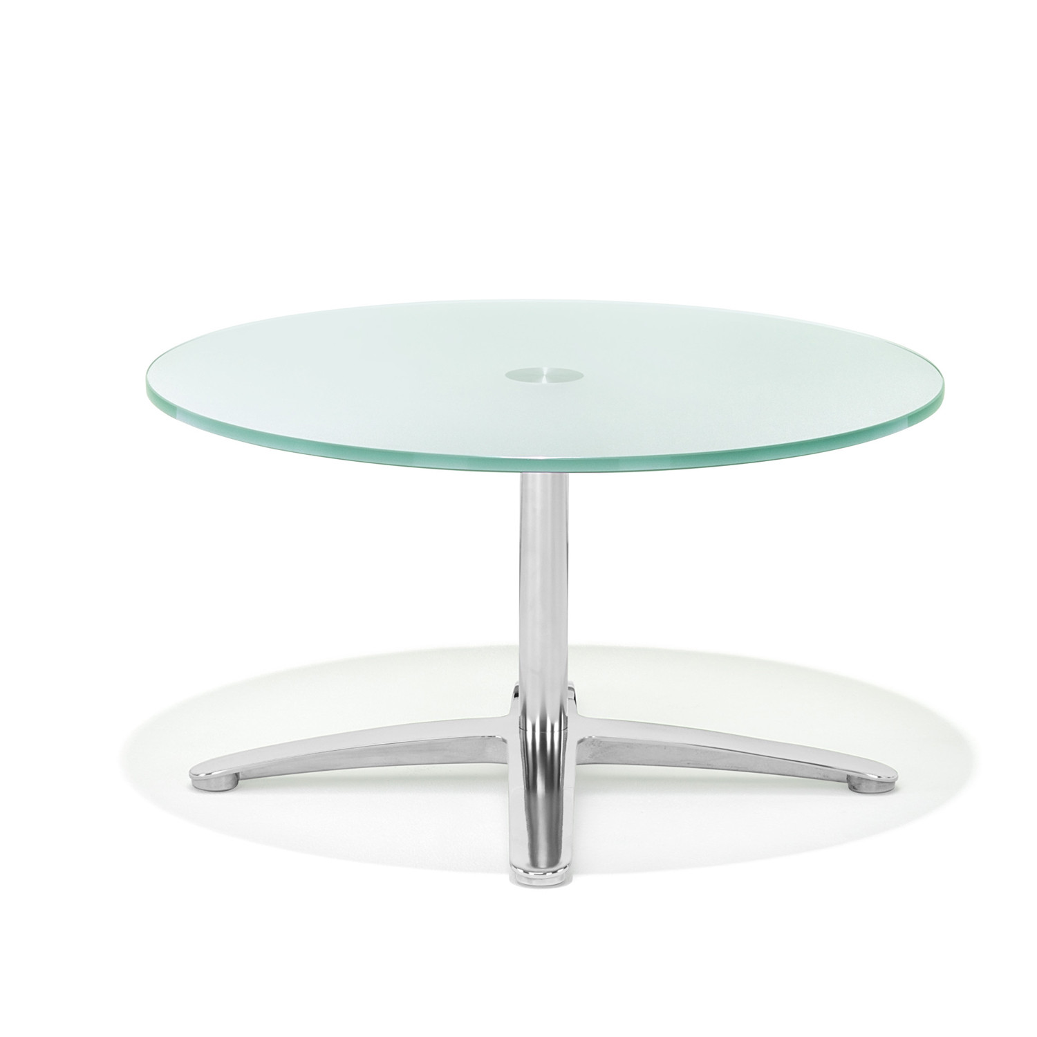 8200 Volpe Round Glass Table with cross base