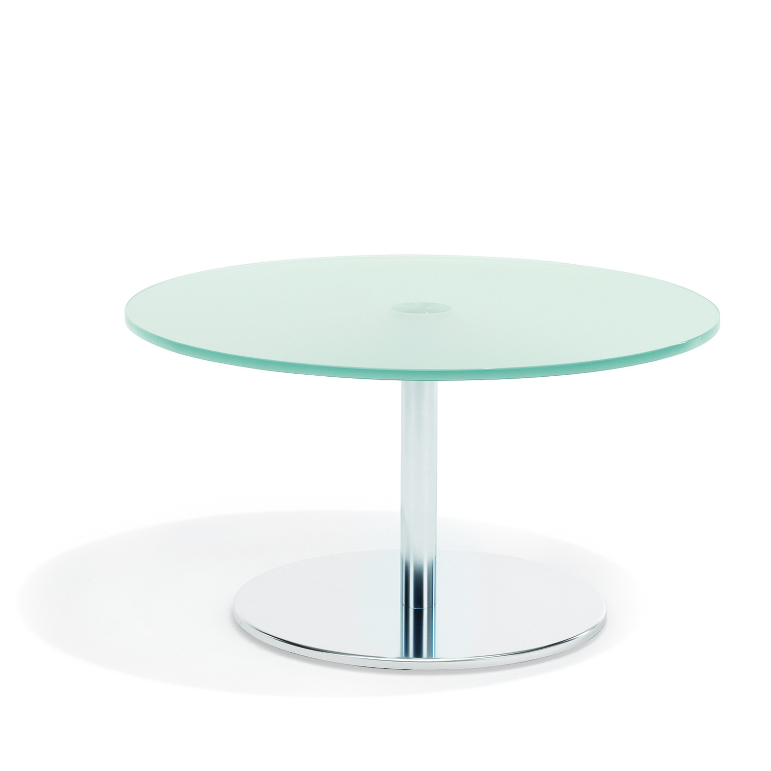 8200 Volpe Glass Coffee Table with base plate