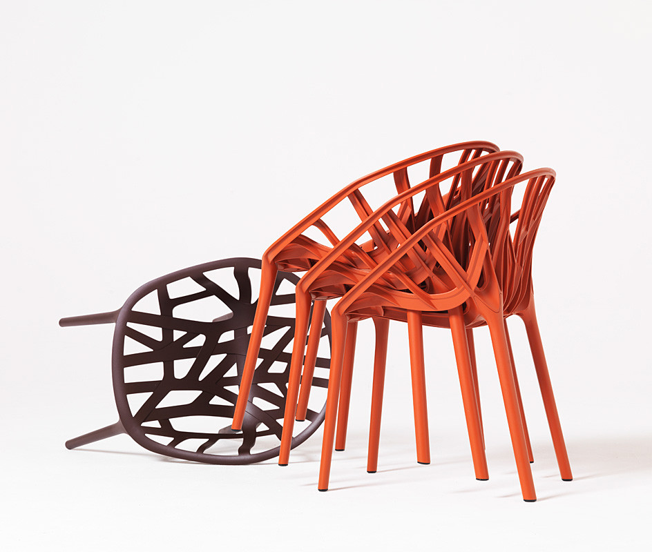Vegetal Chairs Stacked