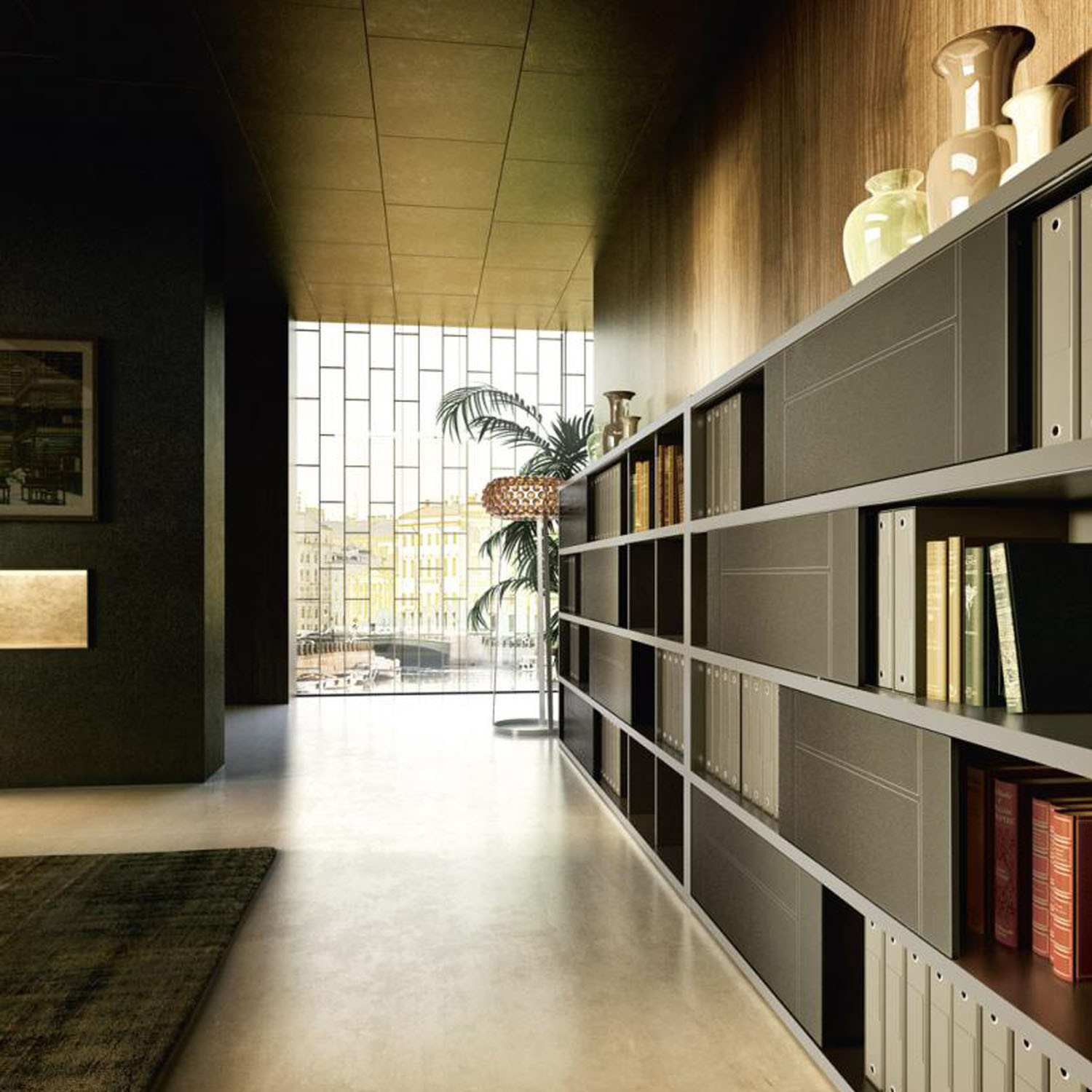 Abacus Executive Office Bookcase by Sinetica