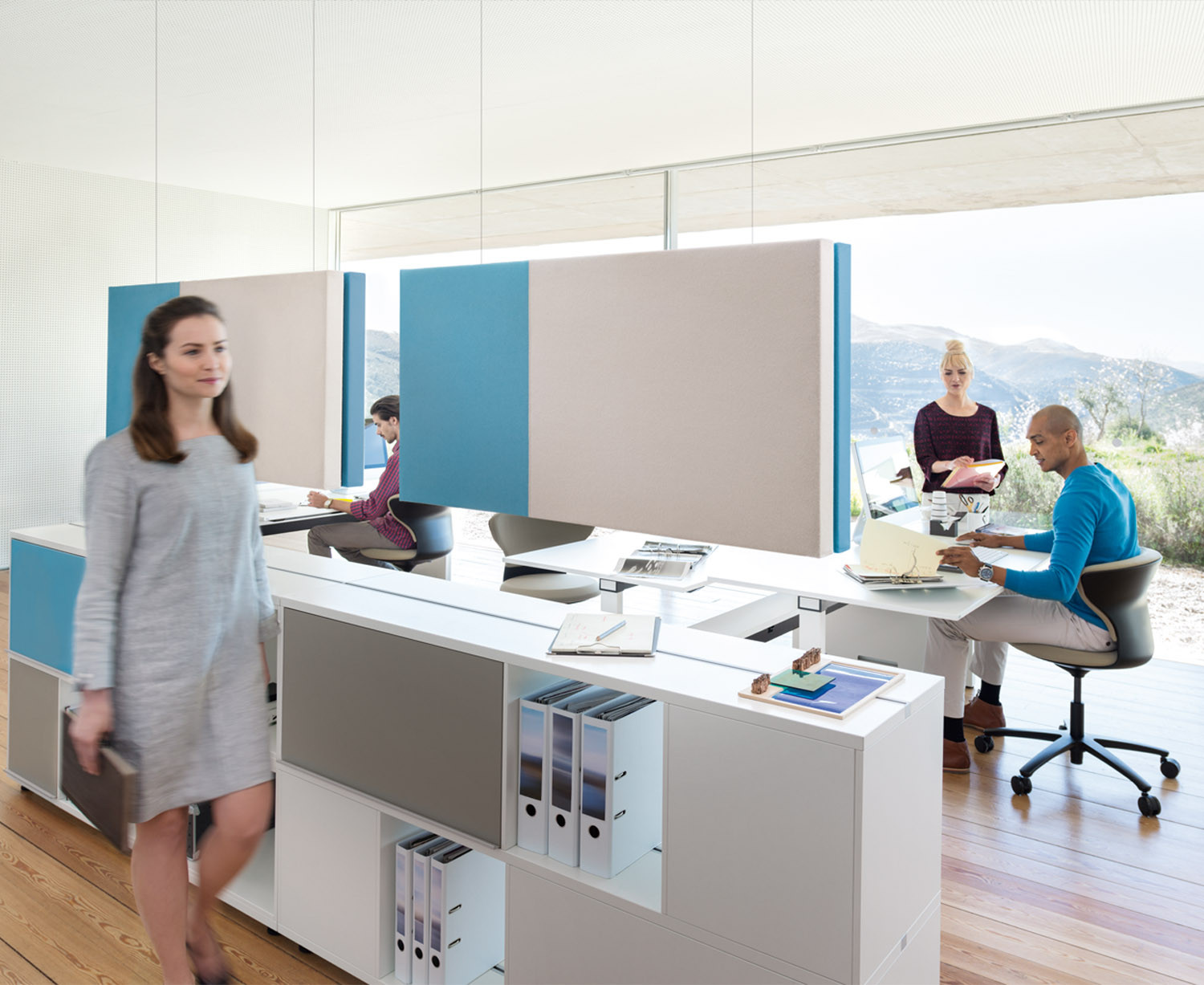 Acoustic Office Wall Panels from Sedus