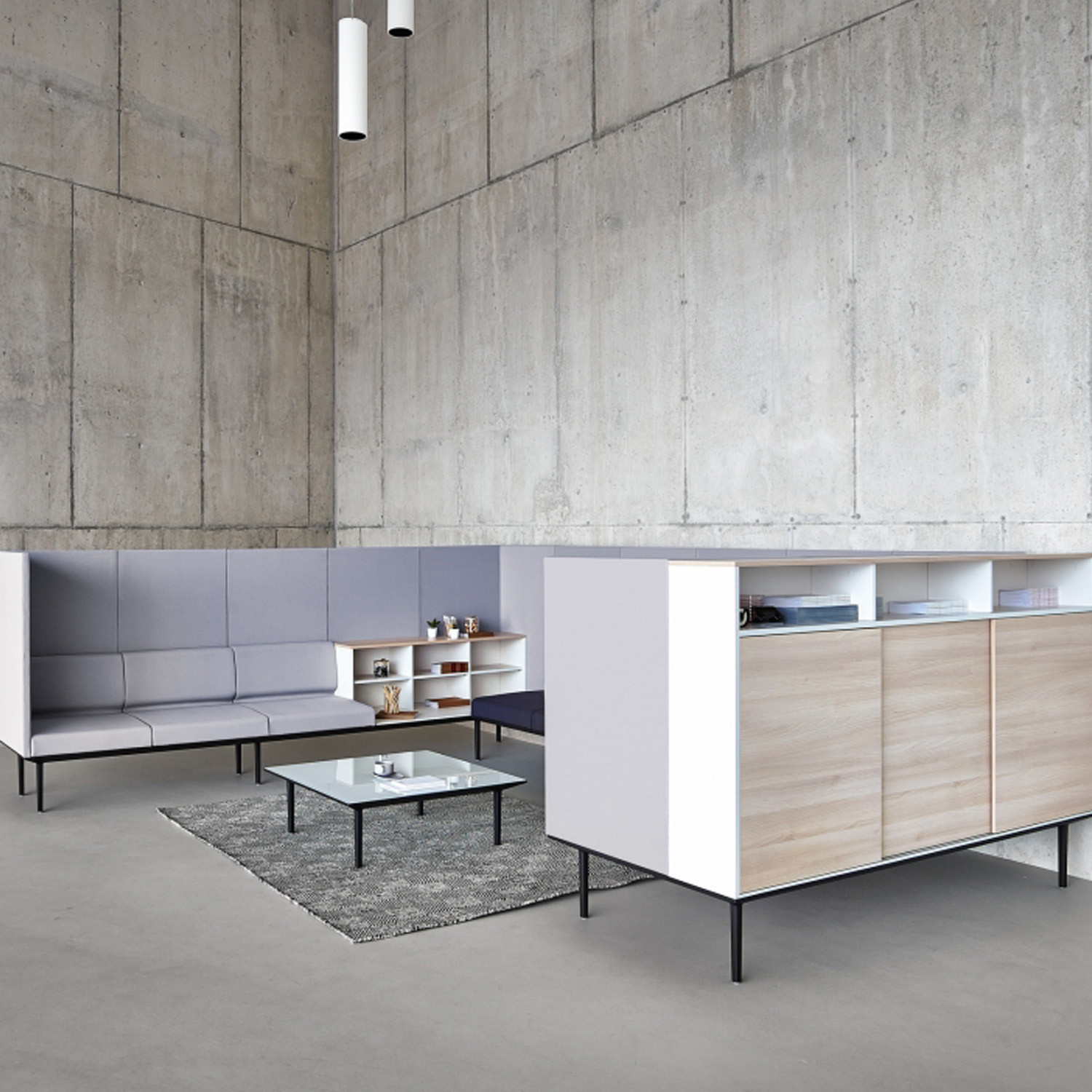 Actiu Longo Modular Furniture Configuration