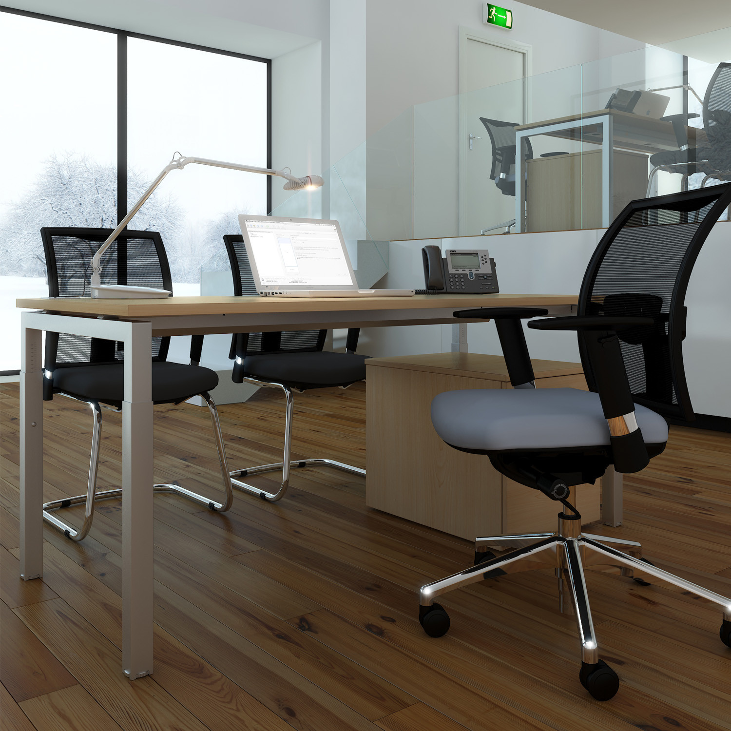 Advance Height Adjustable Single Office Desk