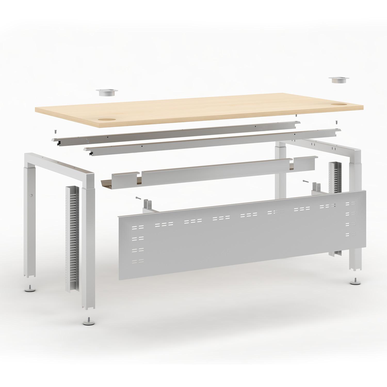 Elite Advance Desk Exploded Illustration