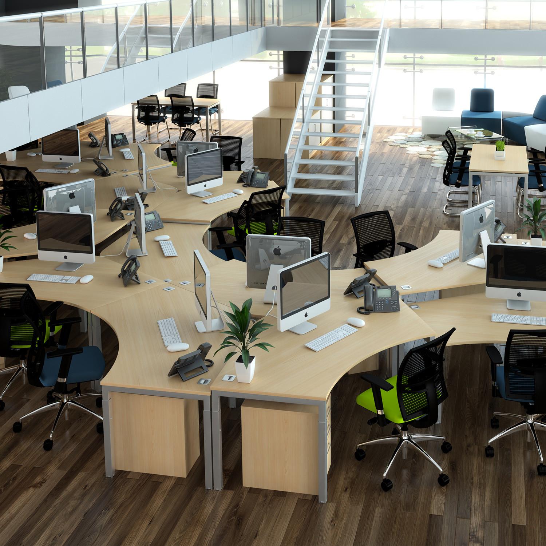 Advance 120 Degree Desks