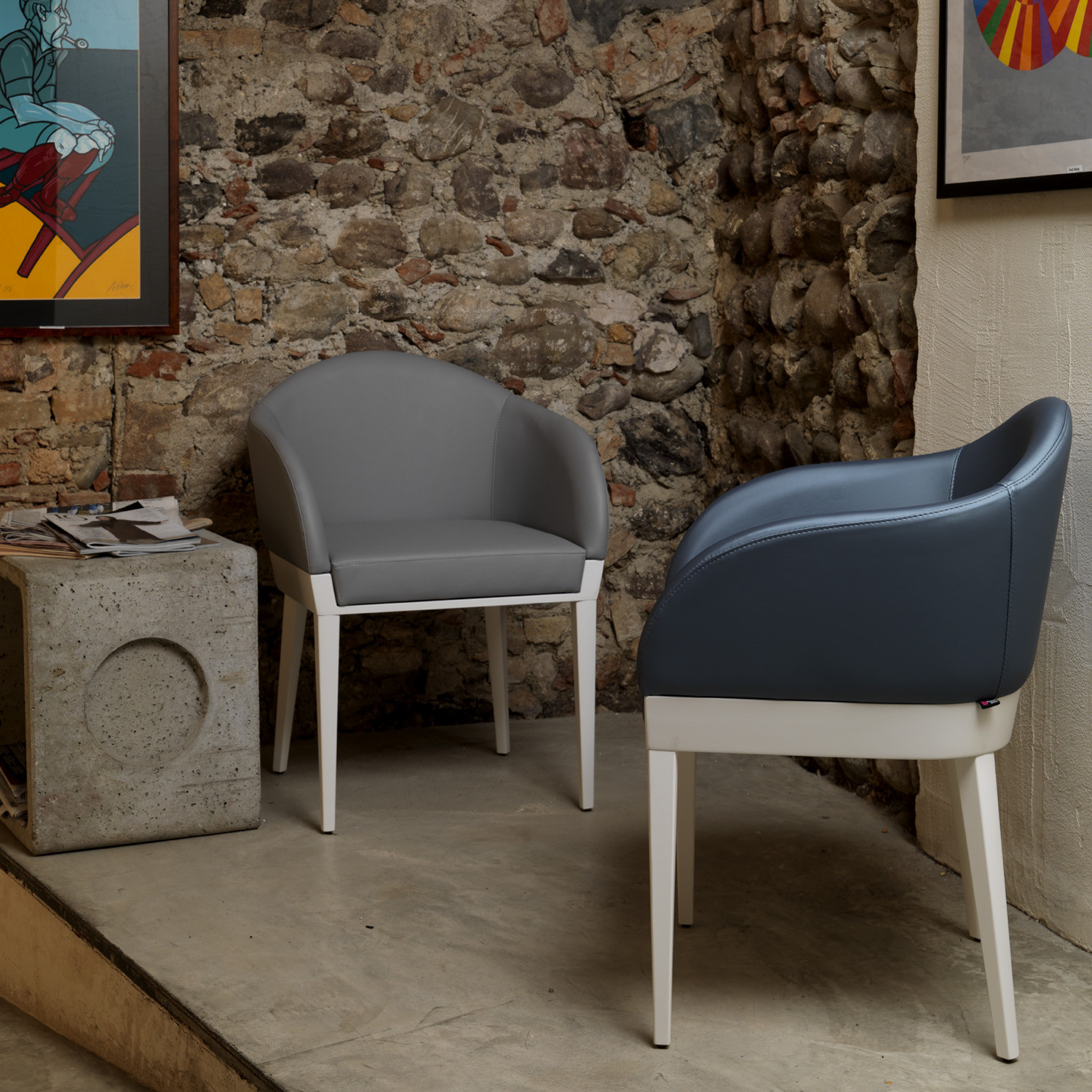Agata Leather Armchairs by Apres