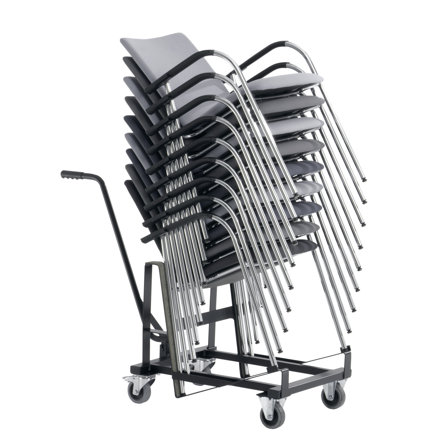 Alite Chairs stack up to 12 chairs high