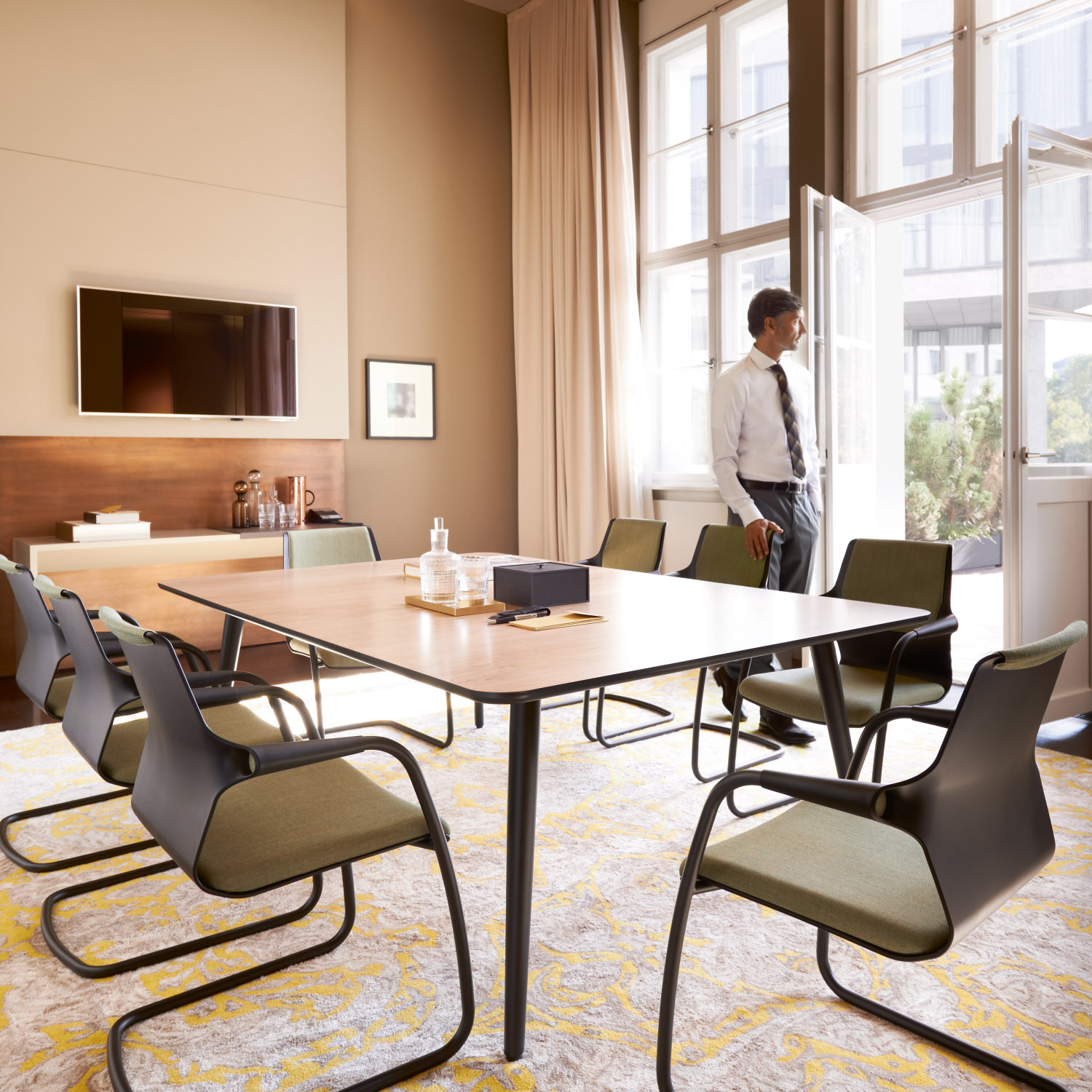 Allright Cantilever Meeting Chairs by Sedus