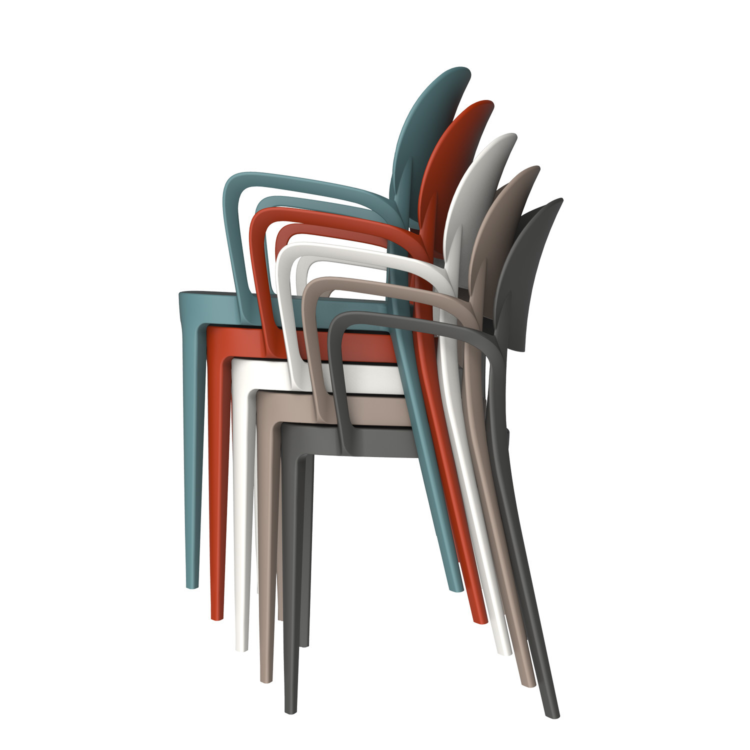 Amy Stackable Armchairs