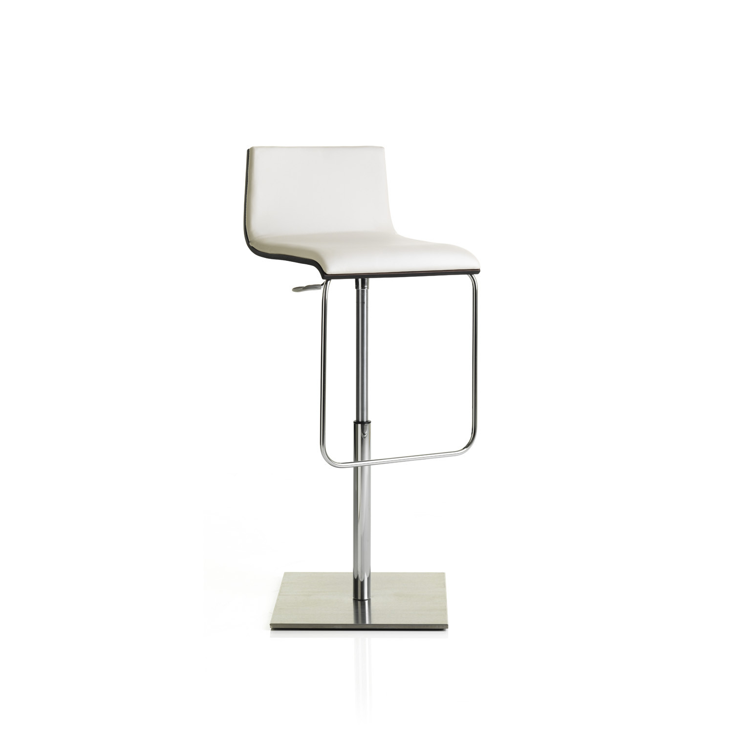 Anouk Height Adjustable Bar Stool on square plate
