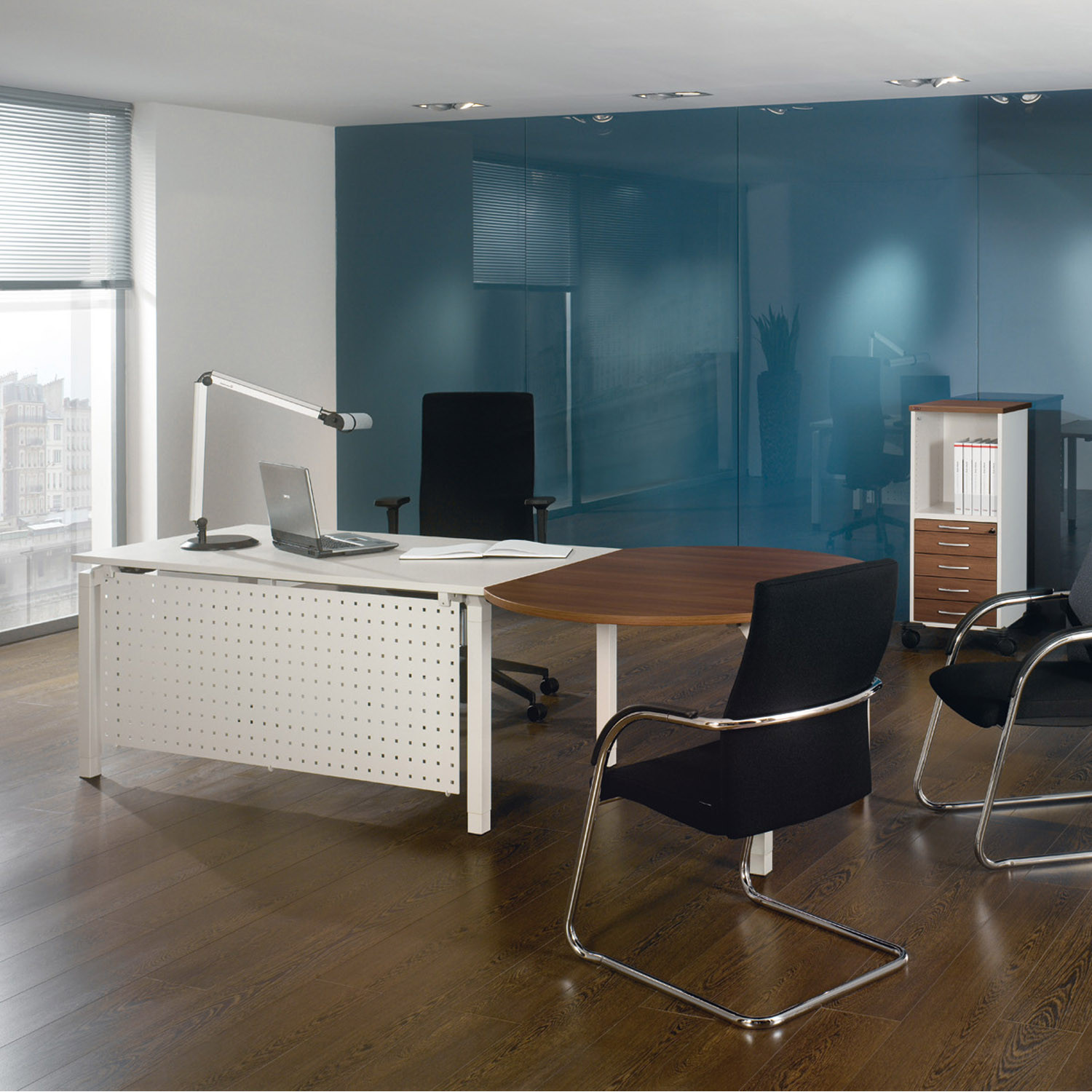 Antaro Office Desk with Modesty Panel