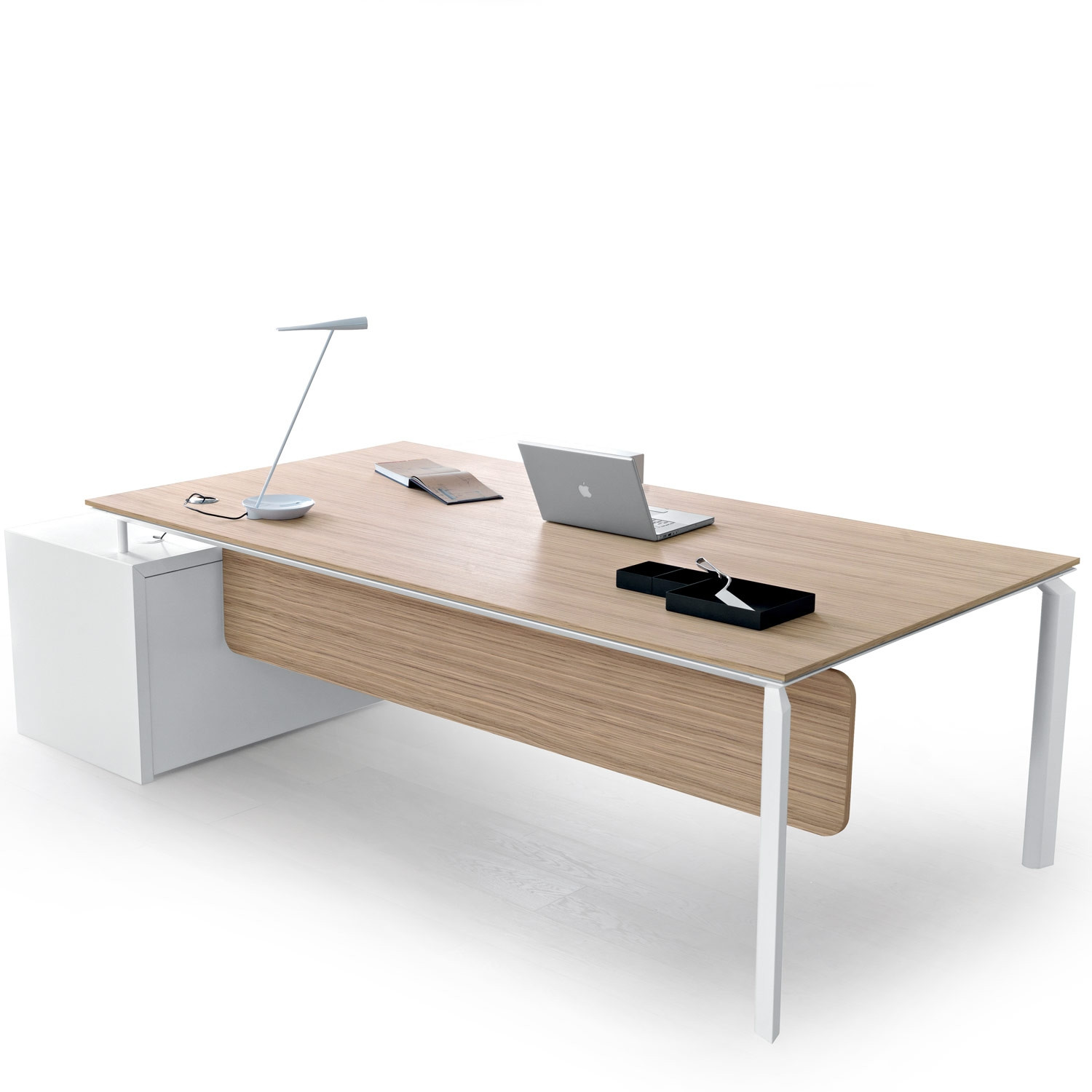 Anyware Executive Desk With Desk Storage Return
