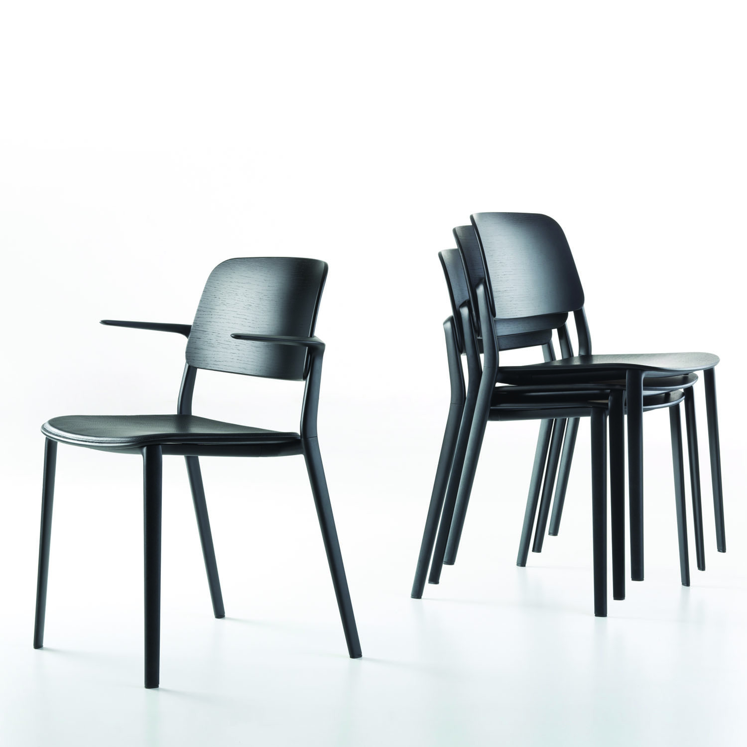 Balck Appia Stacking Chairs