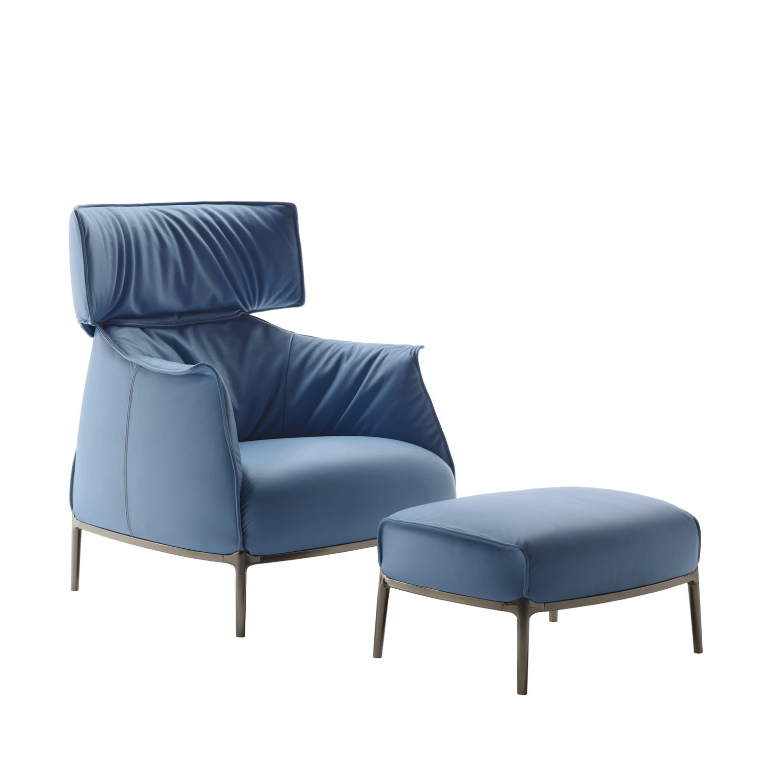 Archibald King Armchair with Footrest