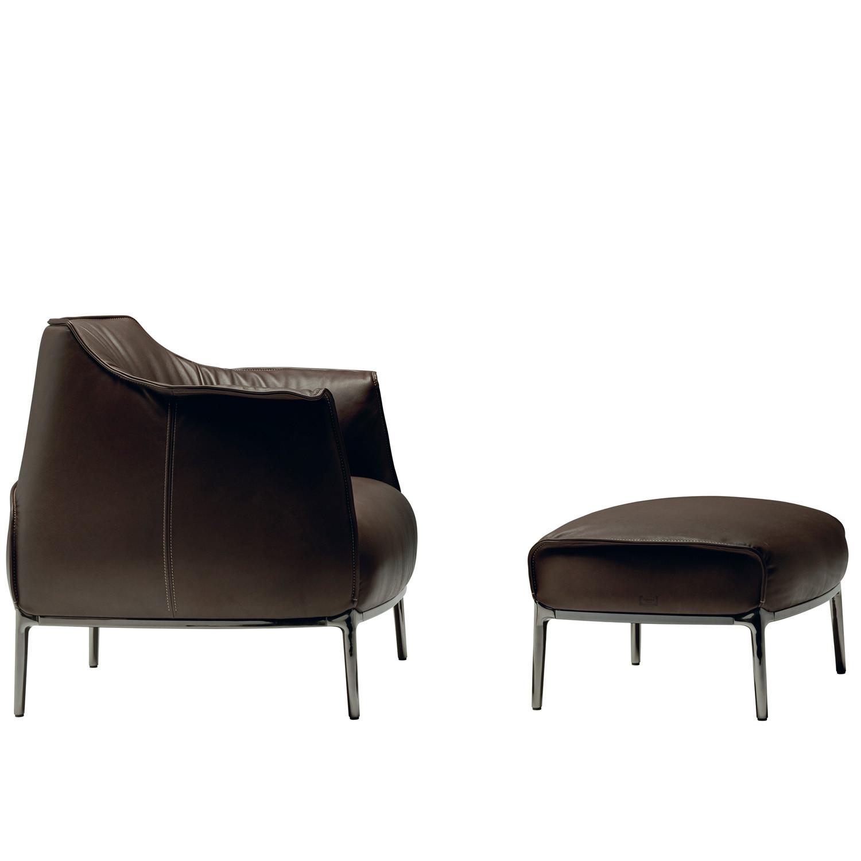 Archibald Armchair with footrest