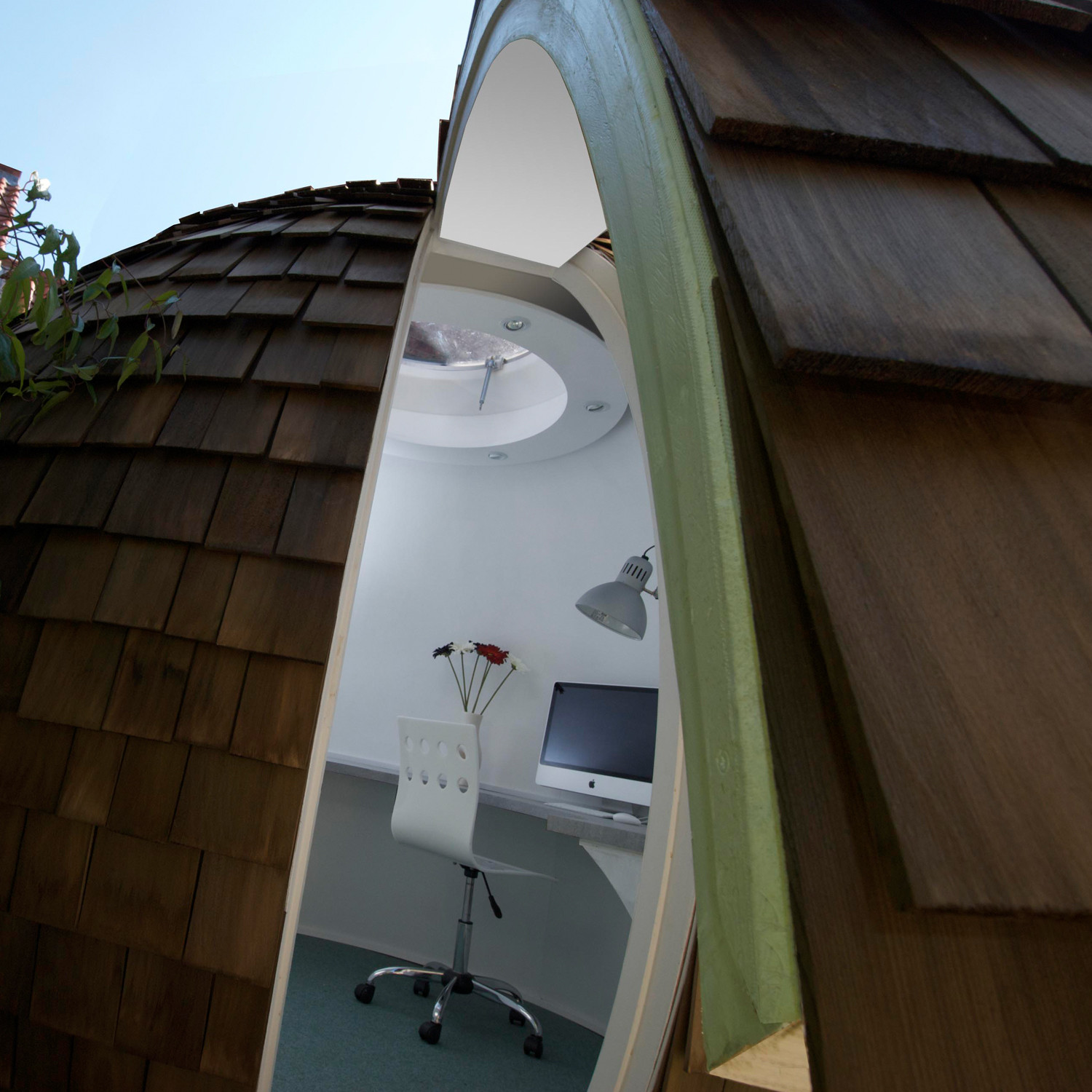 Archipod Garden Office Pod Interior
