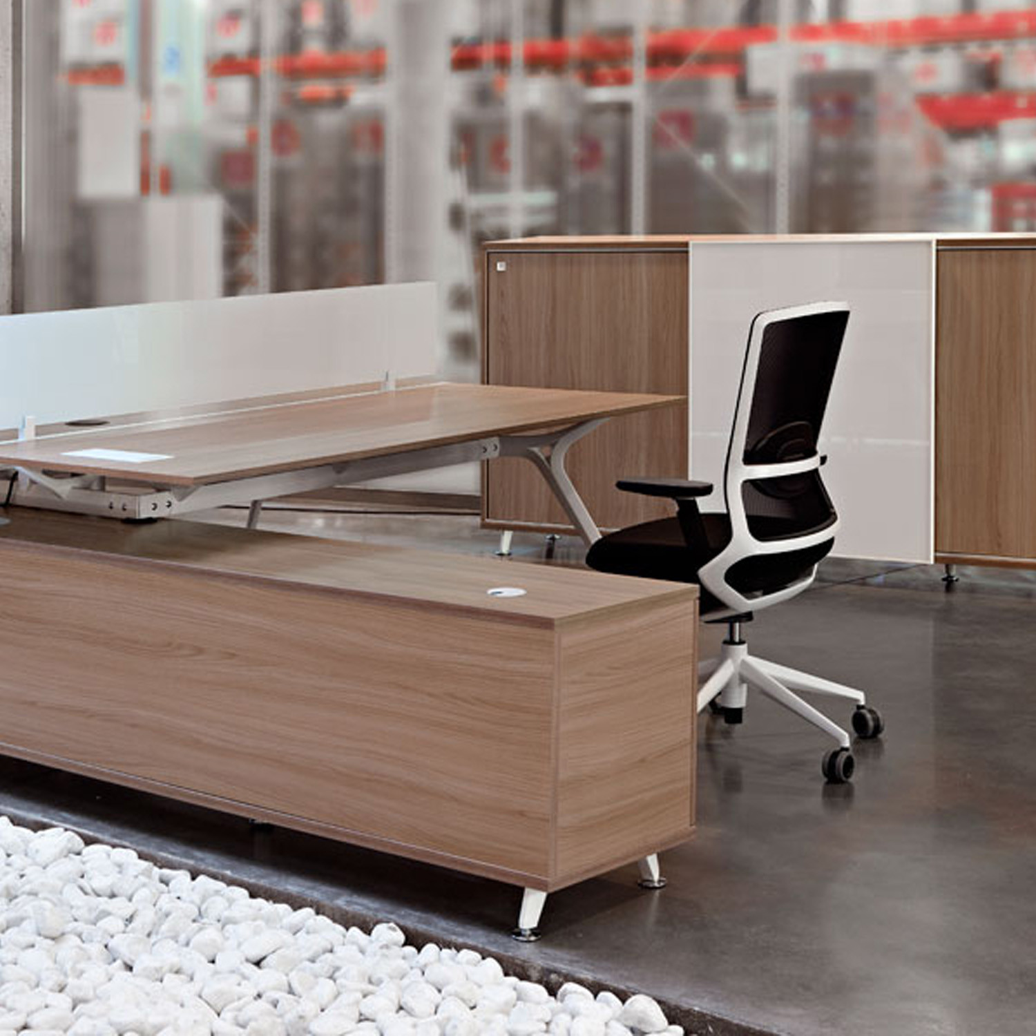 Arkitek Desk with Storage Units by Actiu