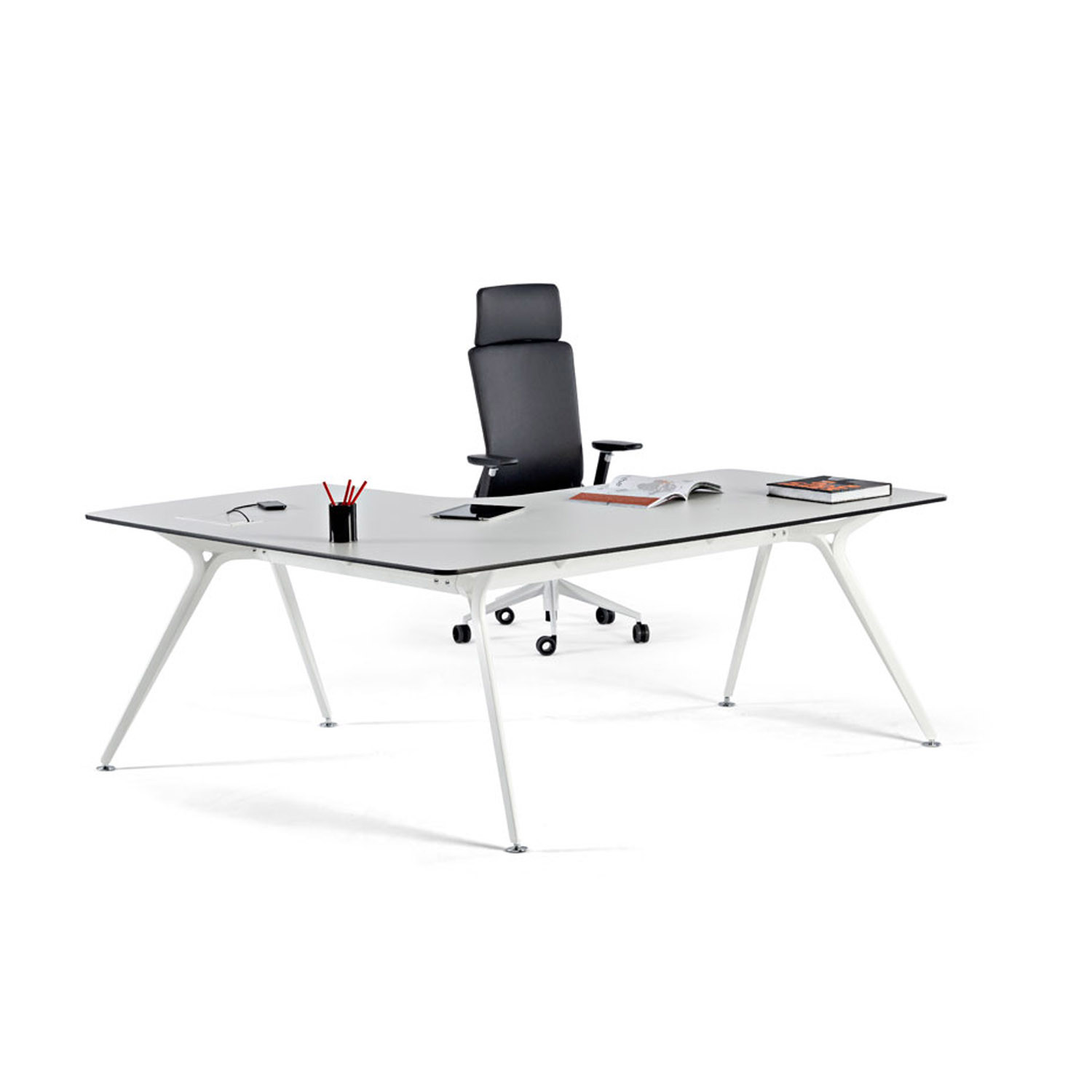 Actiu Arkitek Glass Desk with Return