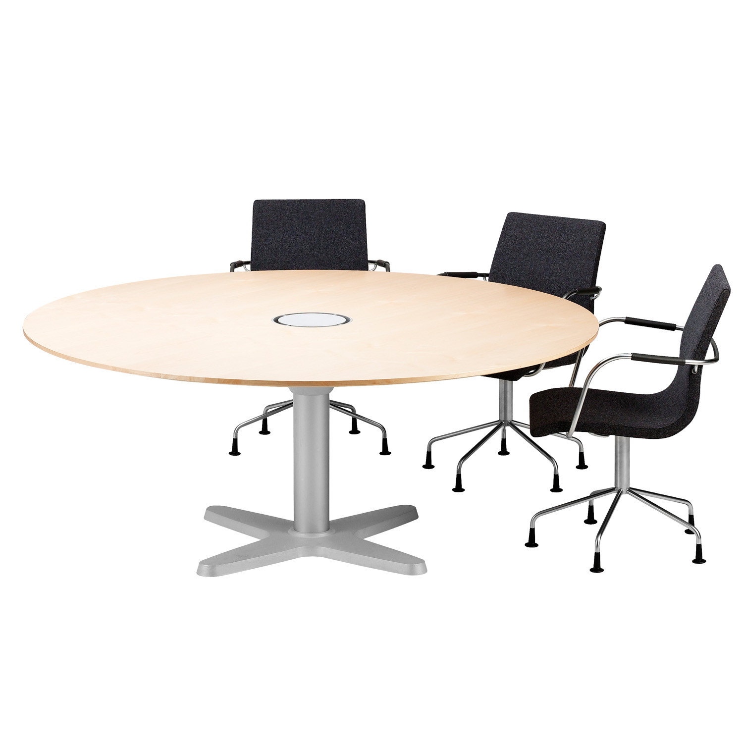 Atlas conference table round shape