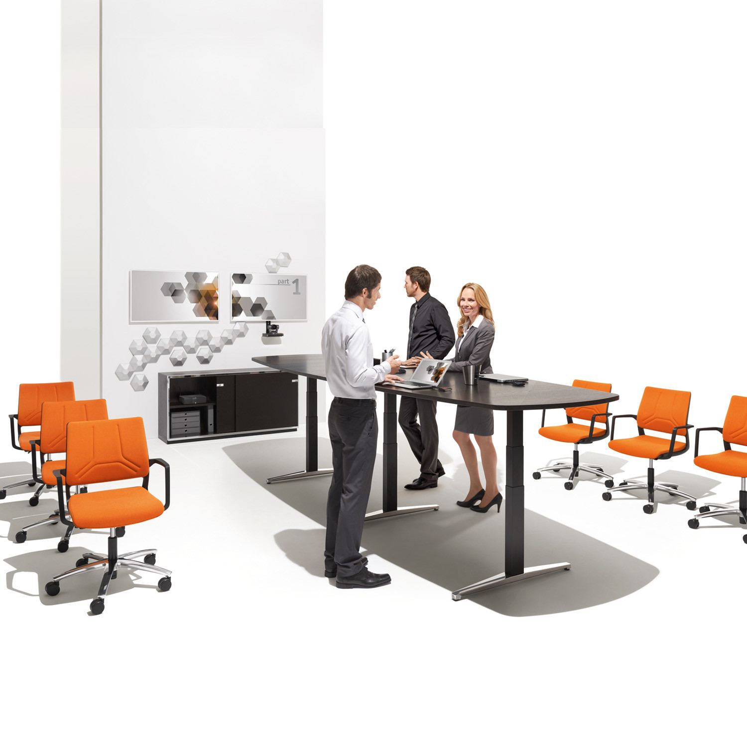Attention T Conference Table Adjustable Height Tables Apres - Adjustable height conference table